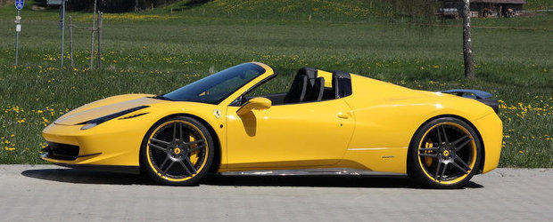 Tuning Ferrari: Novitec Rosso s-a pus pe modificat noul 458 Spider. Iata si rezultatul!