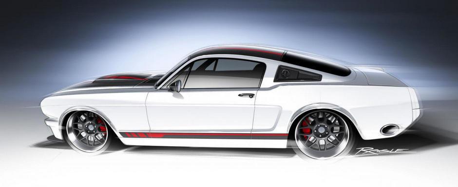Tuning Ford: Ringbrothers aduce la SEMA 2013 un Mustang clasic, cu motor de NASCAR