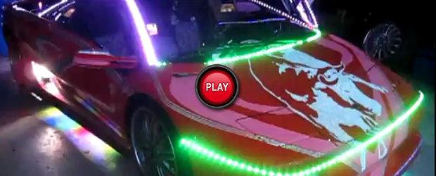 Tuning Lamborghini Diablo - pomul de Craciun, in varianta japoneza
