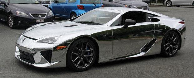 Tuning Lexus: Primul LFA cromat vine din Australia si arata... sclipitor