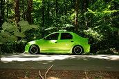 Tuning Logan: PiSSiSica verde Lamborghini, by Sorin
