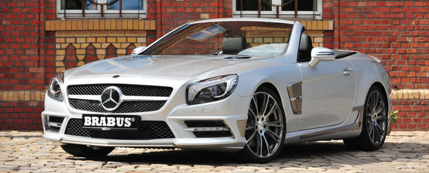 Tuning Mercedes: Brabus modifica ultima generatie a roadsterului SL