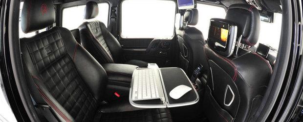 Tuning Mercedes: Brabus transforma noul G65 AMG intr-un birou mobil cu 800 CP