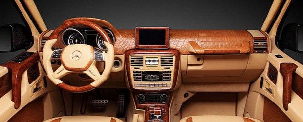 Tuning Mercedes: TopCar imbraca in carbon si piele de crocodil noul G65 AMG
