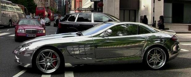 Tuning Mercedes: Un Brabus SLR McLaren cromat face ravagii in Londra