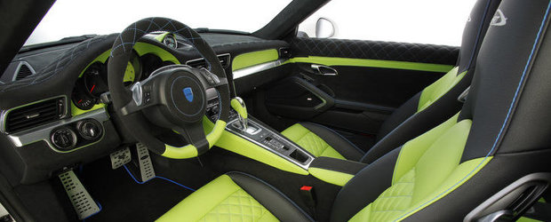 Tuning Porsche: SpeedART SP91-R se lauda cu un interior in doua culori, plus alte bunatati