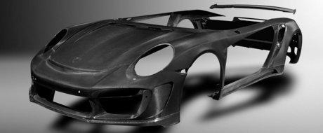 Tuning sau arta? Rusii lanseaza caroseria din carbon pentru Porsche 911 Turbo