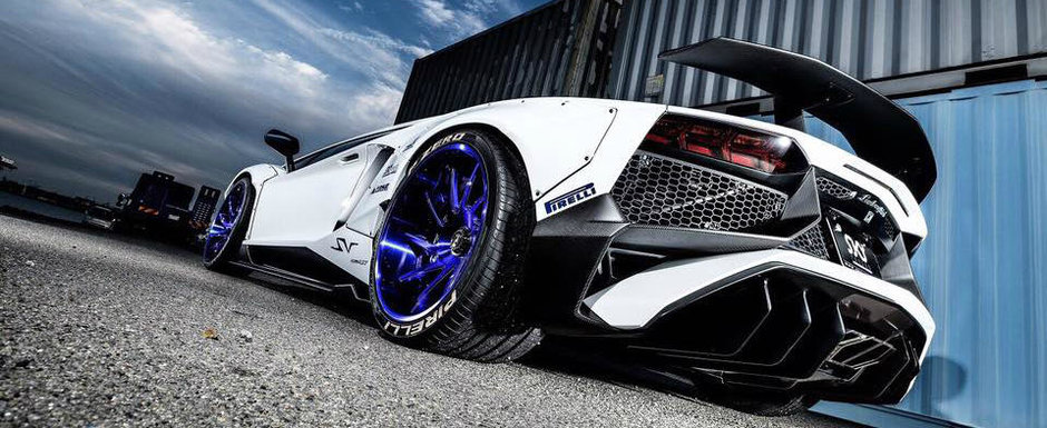 "Tuning-ul care te face sa exclami ""wow!"". Asa arata Aventador-ul SV in viziunea Liberty Walk"