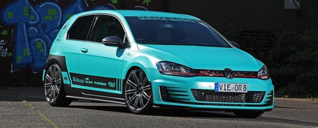 Tuning VW: Ce-ai zice de un Golf GTI imbracat in... negru si turcoaz?