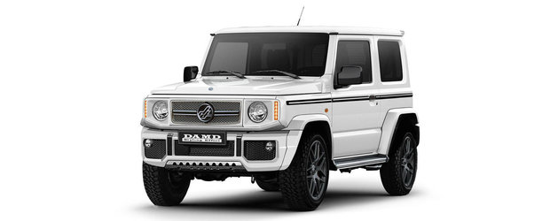 Tuningul care transforma noul Jimny in Mercedes G-Class. Le-a topit inima tuturor