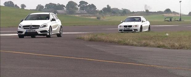 Turbo vs. Aspirat: Scurta intrecere intre noul A45 AMG si vechiul M3 Cabrio