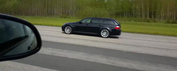 Turbo vs. Aspirat: Scurta liniuta intre noul BMW X5 M si vechiul M5 E61