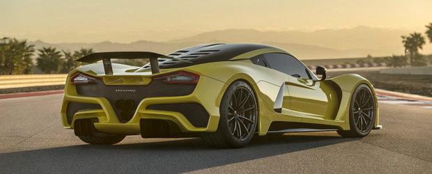 Uita de Bugatti Chiron. Noul Hennessey Venom F5 are 1.600 CP si prinde 484 km/h!