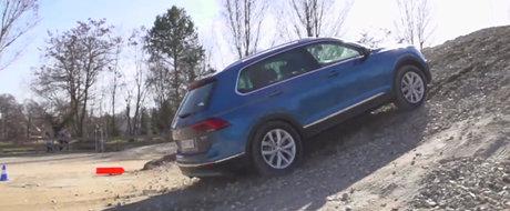 Uite ca la Volkswagen se poate! Noul Tiguan urca fara probleme o rampa!