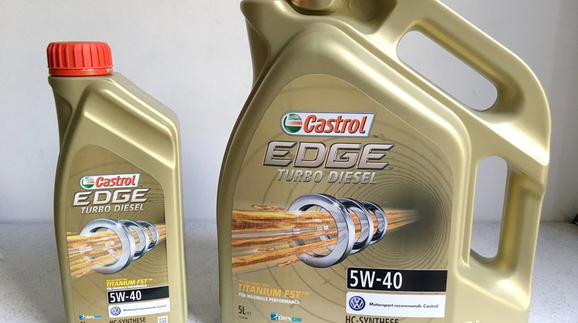 Ulei Motor - Castrol Edge 5w40 / Pumpe - Duse VW 505 01 * Import Germania *