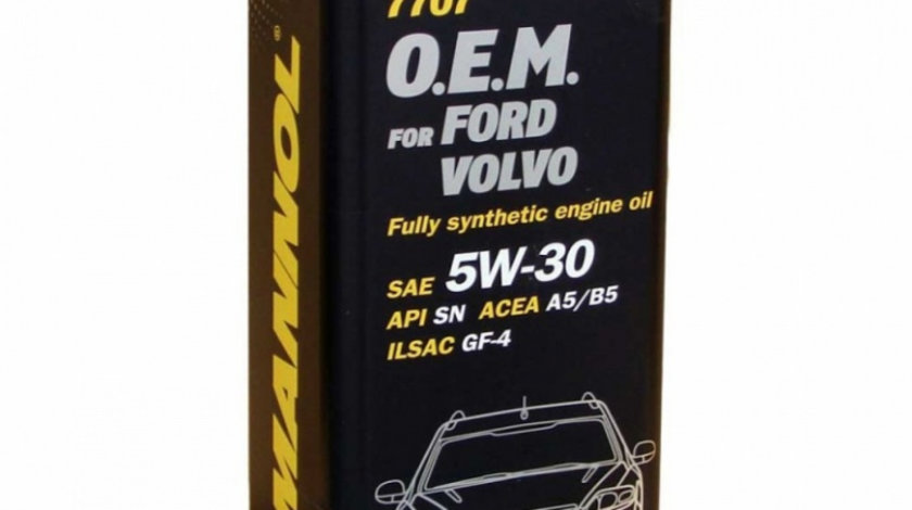 Ulei motor Mannol Oem Ford / Volvo 5W-30 5L Metal MN7707-5ME