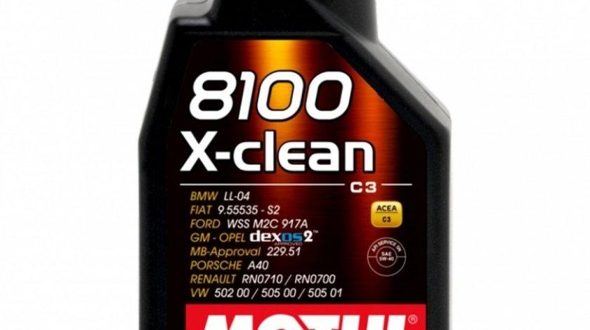 Ulei motor Motul 8100 X-Clean 5W-40 1L