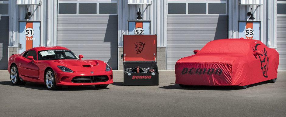 Ultimele exemplare Viper si Dodge Demon au fost vandute impreuna la licitatie. Suma platita pe cele doua