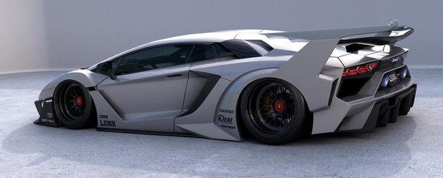 Ultimul bodykit dezvoltat de Liberty Walk pentru Aventador este SF. Poate costa chiar si 187.000 de dolari