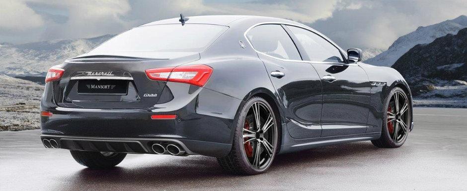 Ultimul proiect de la Mansory include un Maserati Ghibli si cateva modificari... neobisnuit de subtile