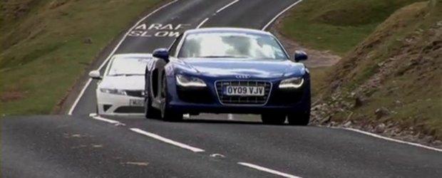 Un altfel de duel: Audi R8 V10 versus... Honda Civic Type R Mugen