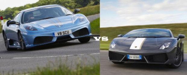 Un altfel de duel: F430 Scuderia vs. Gallardo LP550-2