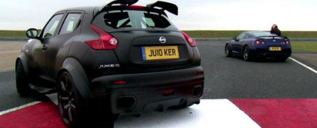 Un altfel de duel: Nissan Juke-R si GT-R isi dau intalnire pe circuit