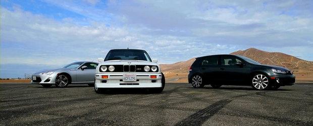 Un altfel de duel: Scion FR-S versus VW Golf GTI versus BMW M3 E30