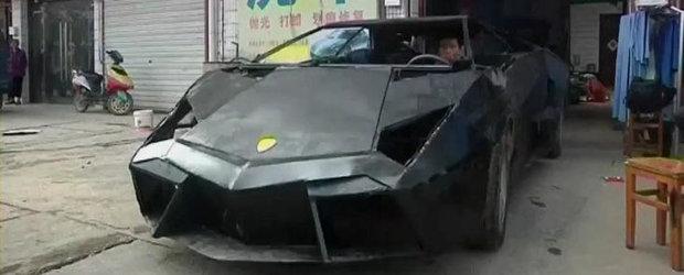 Un altfel de tuning: Lamborghini Reventon construit din piese vechi si multa pasiune