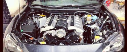 Un altfel de tuning: Subaru BRZ cu motor V8 de 6 litri