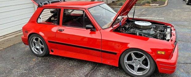 Un american isi vinde pe Facebook vechea masina: un Yugo cu doua motoare V8 si aproape 1000 CP pe ambele punti