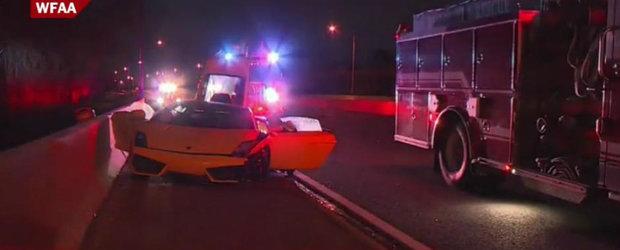 Un american si-a abandonat Lamborghini-ul pe autostrada. Dupa ce l-a lovit.