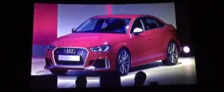 Un Audi RS3 Sedan e pe vine. Noul model ar avea 400 CP sub capota