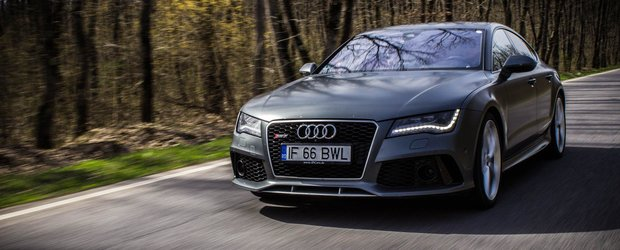 Un Audi RS7 Performance din Romania are mai multi cai decat cei oficiali, fara modificari