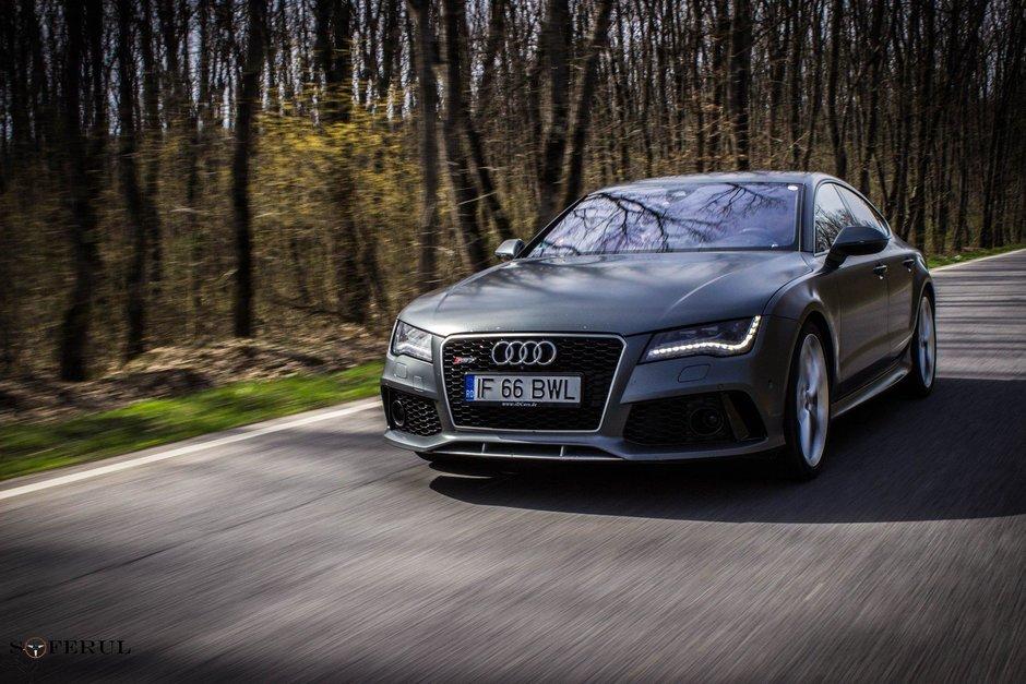 Un Audi RS7 Performance din Romania are mai multi cai decat cei oficiali, fara modificari