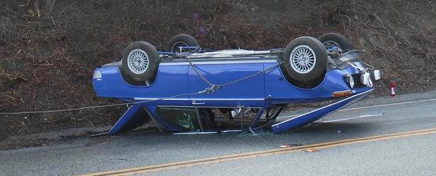 Un BMW 2002 proaspat restaurat a fost facut praf de un pusti de 17 ani
