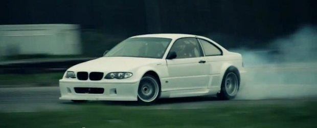 Un BMW cu motor V8 de Corvette face drifturi nebune
