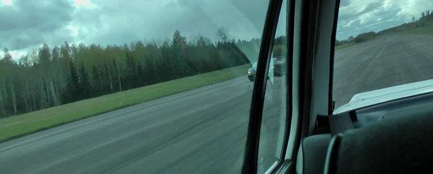 Un BMW E30 Turbo se ia la intrecere cu un Gallardo TT si... castiga detasat