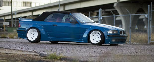 Un BMW E36 cum NU ai mai vazut in viata ta. Pare desprins din epoca NFS.