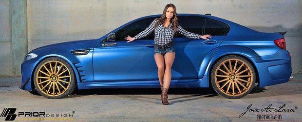 Un BMW M5 unic, de la Prior Design: Widebody, jante pe 22 inci si alte bunatati