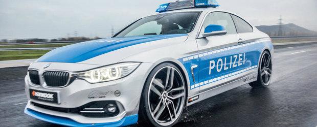 Un BMW Seria 4 Coupe modificat este noua vedeta a Politiei Germane