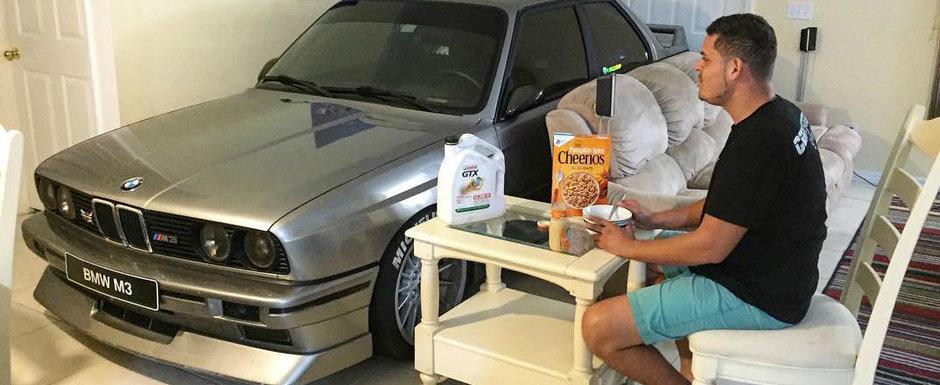 Un bol de cereale si... o masina BMW M3 E30. Povestea din spatele acestei imagini ajunsa viral