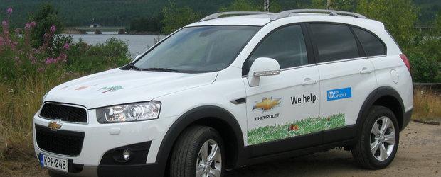 Un Chevrolet Captiva pentru copiii din Laponia
