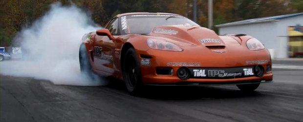 Un Corvette modificat complet scoate 6.58 secunde pe sfertul de mila