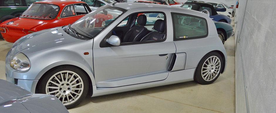 Un dealer din Miami are la vanzare un Clio V6. Masina se bate pe clienti cu un Lambo de 1600 CP
