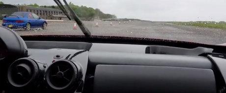 Un Ferrari Enzo a fost invins de un Subaru vechi de 20 de ani. Cel putin la start