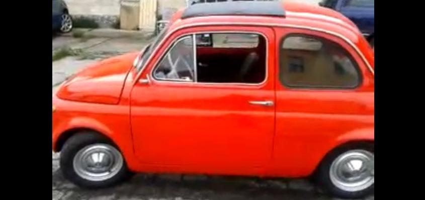 Un Fiat 500 din 1970 a devenit masina electrica