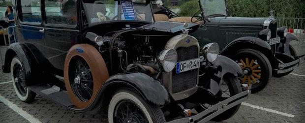 Un Ford Model A Coupe fabricat in 1929 face furori pe strazile din Romania