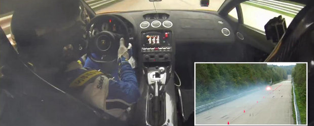 Un Gallardo Twin-Turbo se aprinde la peste 400 km/h: VIDEO ONBOARD