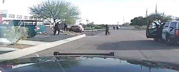 Un individ fura o arma de foc si ameninta ca se sinucide, dar este oprit de politie